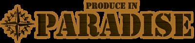 Logo produce in paradise